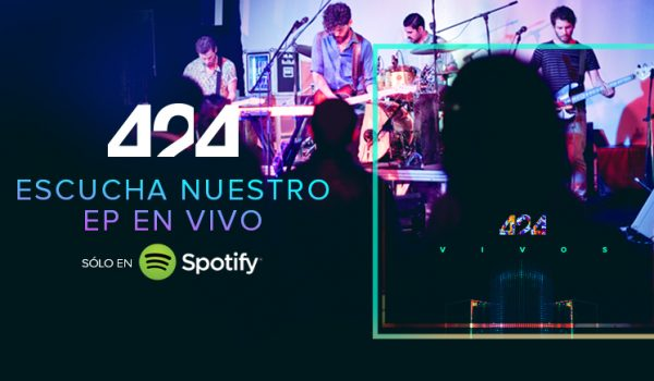 Escuchá 'Vivos' el nuevo EP de la banda 424 (audio)