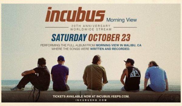 Incubus celebrará los 20 años del icónico «Morning View» con concierto vía streaming